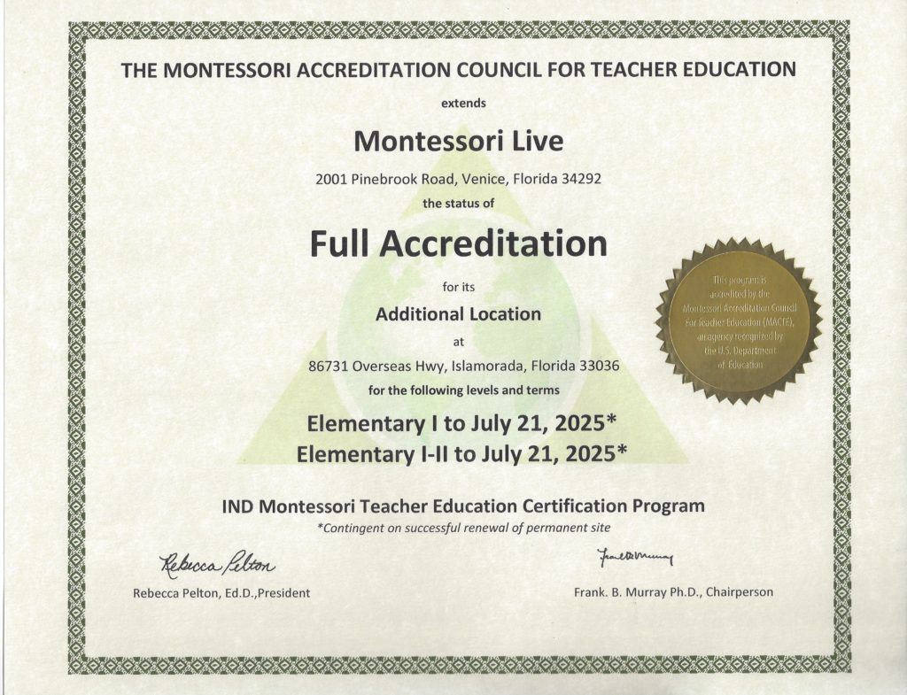 Montessori Live Macte Accredited Montessori Certification Online